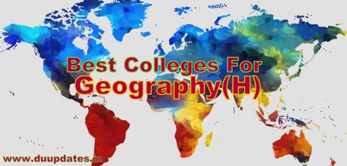 BA (HONS) GEOGRAPHY FROM DELHI UNIVERSITY