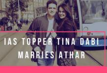 Tina Dabi Marries Runner Up Athar Aamir-ul-Shafi