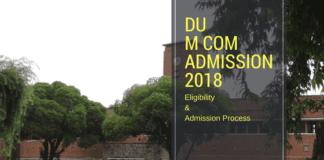 du m com admission 2018