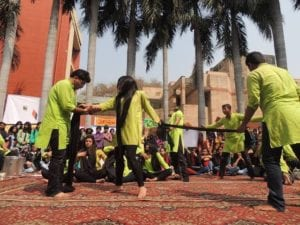 Nukkad natak at delhi university