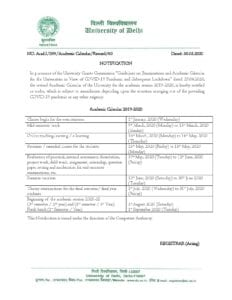 Revised Academic Calander