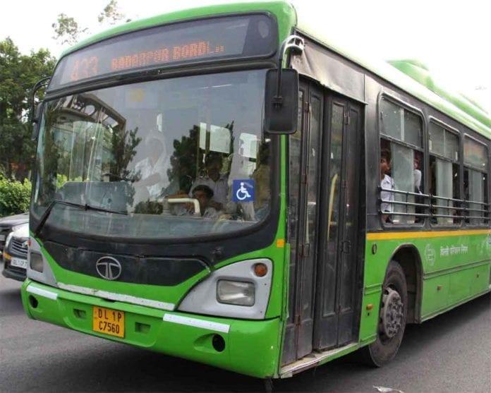 Delhi buses