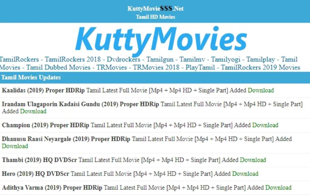 Kuttymovies - How to download movies from kuttymovies - Illegal HD all movies  download website
