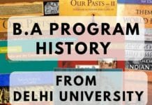 BA PROGRAM HISTORY FROM DELHI UNIVERSITY