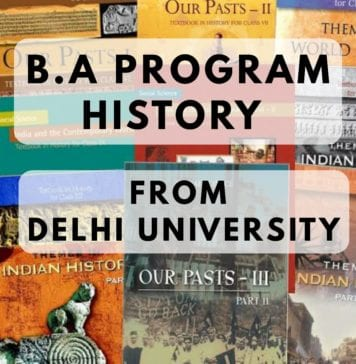 BA PROGRAM HISTORY FROM DELHI UNIVERSITY