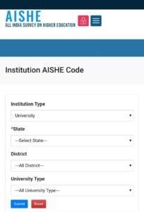 AISHE CODE