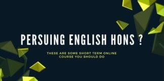 short term courses for english hons
