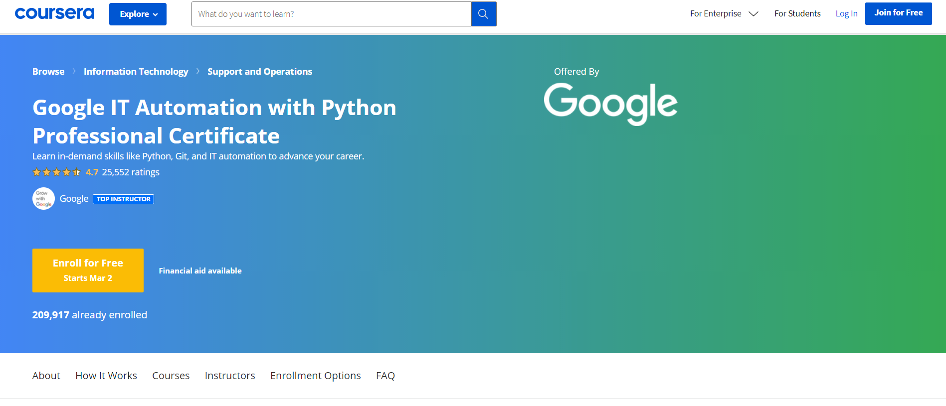 Google IT Automation with Python