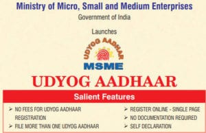 Udyog Aadhar Registration Document