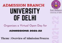 DU admission process 2021