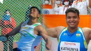 yogesh kathuniya won silver